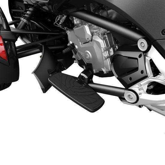 Voetsteunen/Floorboards Chroom/Zwart Spyder F3 Modellen